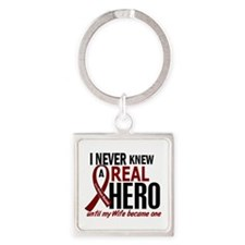 Multiple Myeloma Real Hero 2 Square Keychain