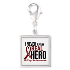 Multiple Myeloma Real Hero 2 Silver Square Charm