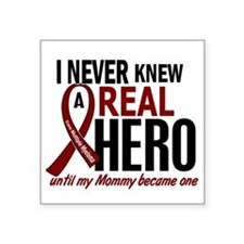 "Multiple Myeloma Real Hero Square Sticker 3"" x 3"""