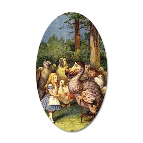 Alice With Dodo 35x21 Oval Wall Decal