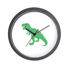 Green Brontosaurus Wall Clock