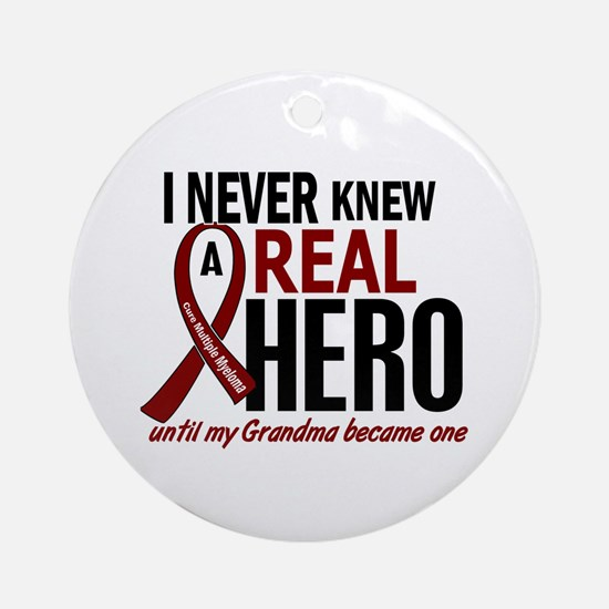 Multiple Myeloma Real Hero 2 Ornament (Round)