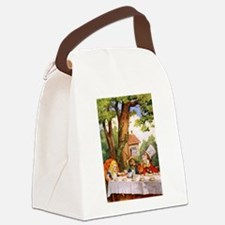 The Mad Tea Party Canvas Lunch Bag