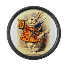 The White Rabbit Large Wall Clock