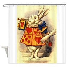 The White Rabbit Shower Curtain