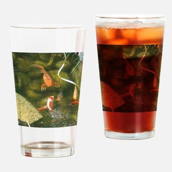 Season of the Koi Drinking Glass