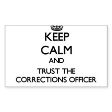 Keep Calm and Trust the Corrections Officer Sticke