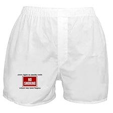 No Smoking Sign Boxer Shorts