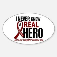 Multiple Myeloma Real Hero 2 Sticker (Oval)