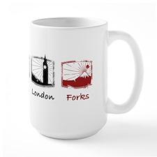 New York, Paris, London, FORK Mugs