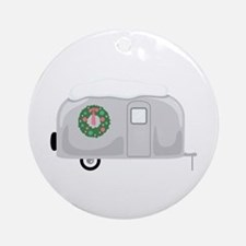 Christmas Trailer Ornament (Round)