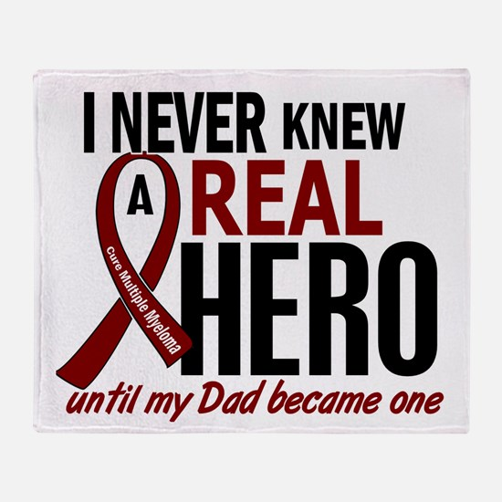 Multiple Myeloma Real Hero 2 Throw Blanket
