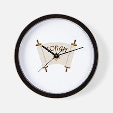 TORAH * Wall Clock