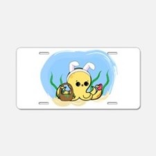 Easter Octopus Aluminum License Plate