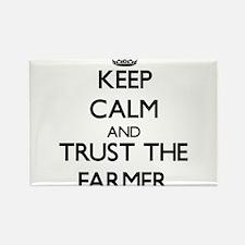 Keep Calm and Trust the Farmer Magnets