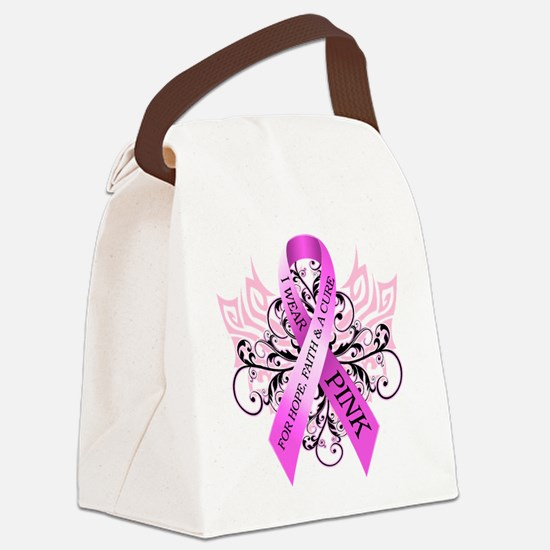 I Wear Pink for HopeFaithCure Canvas Lunch Bag