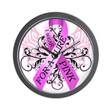I Wear Pink for ACure Wall Clock