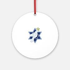 Star Dove Peace Ornament (Round)