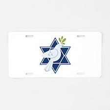 Star Dove Peace Aluminum License Plate