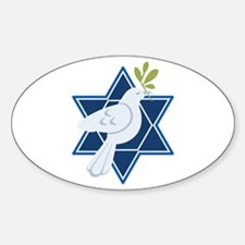 Star Dove Peace Decal