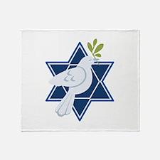 Star Dove Peace Throw Blanket
