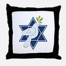 Star Dove Peace Throw Pillow