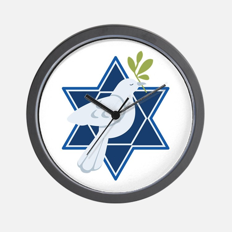 Star Dove Peace Wall Clock