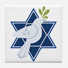 Star Dove Peace Tile Coaster