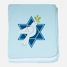 Star Dove Peace baby blanket