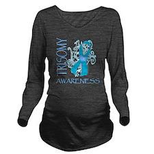 HOPE FOR TRISOMY Long Sleeve Maternity T-Shirt