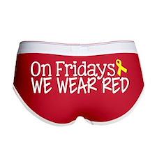 On Fridays We Wear Red Women's Boy Brief