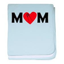Rowing Heart Mom baby blanket