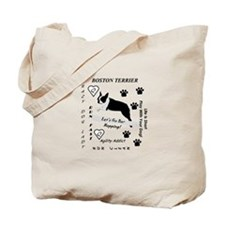 Boston Terrier Agility Addict Tote Bag
