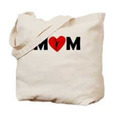 Basketball Layup Heart Mom Tote Bag