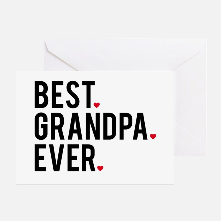 Best grandpa ever, word art, text design Greeting