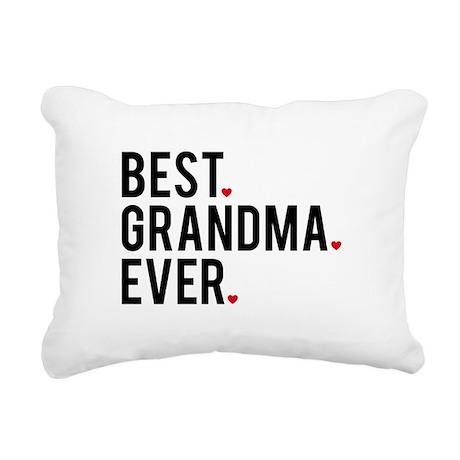 best grandma ever rectangular canvas pillow