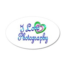 I Love Photography Wall Decal
