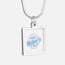 Happy Mother's Day Silver Square Necklace