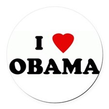 Cute I heart obama Round Car Magnet