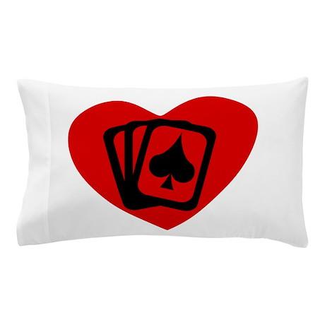 Poker Heart Pillow Case