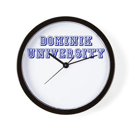 Dominik University Wall Clock