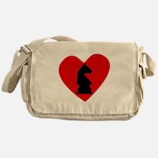 Chess Heart Messenger Bag