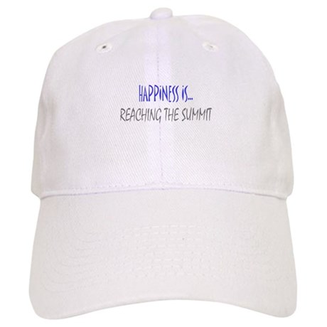 Happiness is Reaching Summit Cap