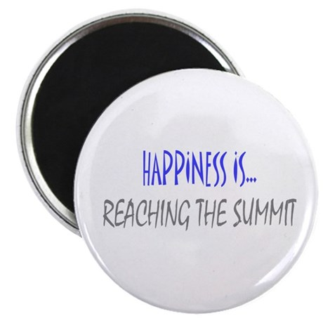 "Happiness is Reaching Summit 2.25"" Magnet (10 pack"