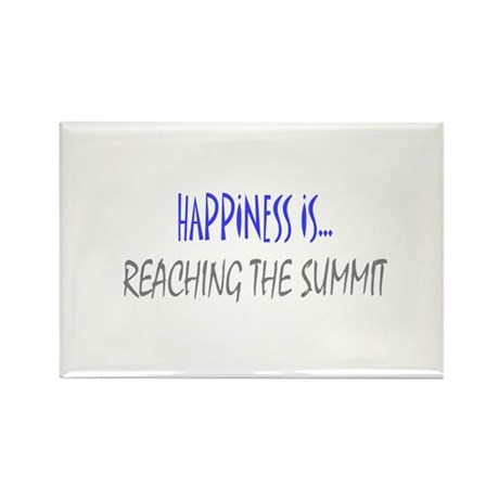 Happiness is Reaching Summit Rectangle Magnet