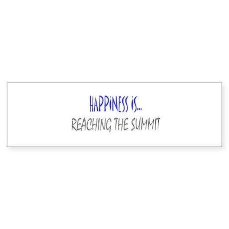Happiness is Reaching Summit Bumper Sticker