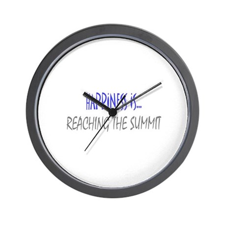Happiness is Reaching Summit Wall Clock