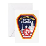 Columbus Fire Department Greeting Cards (Package o