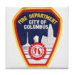 Columbus Fire Department Tile Coaster