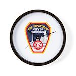 Columbus Fire Department Wall Clock